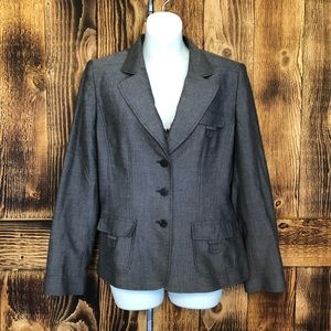 Tahari Jackets & Coats - Tahari - Gray 3-Button Blazer - 10